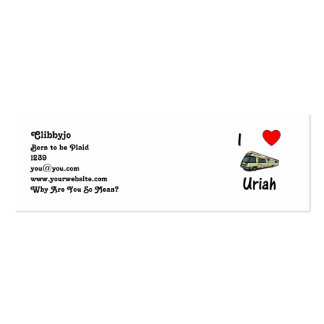 I Love Uriah (pic) Pack Of Skinny Business Cards