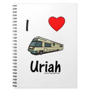 I Love Uriah pic Spiral Note Book