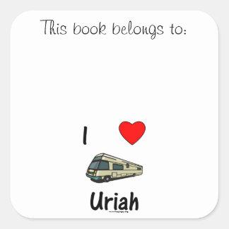I Love Uriah (pic) Square Sticker