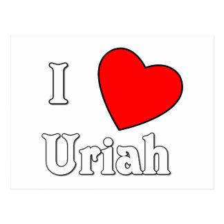 I Love Uriah Postcard