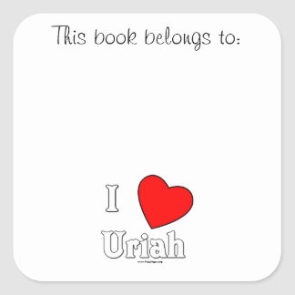 I Love Uriah Square Sticker