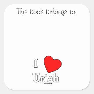 I Love Uriah Sticker
