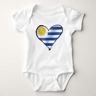 I love Uruguay Uruguayan heart gifts Baby Bodysuit