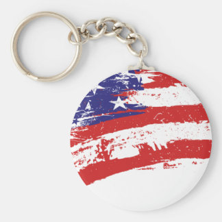 I Love USA Keychain