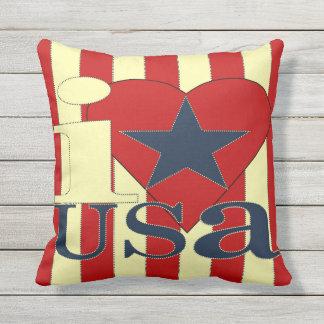 I Love USA Pillow