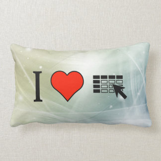 I Love Using Spreadsheets Pillow