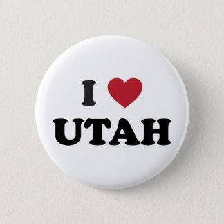 I Love Utah 2 Inch Round Button