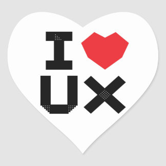 I Love UX (User Experience) Heart Sticker