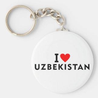 I love Uzbekistan country like heart travel touris Keychain