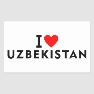 I love Uzbekistan country like heart travel touris Sticker
