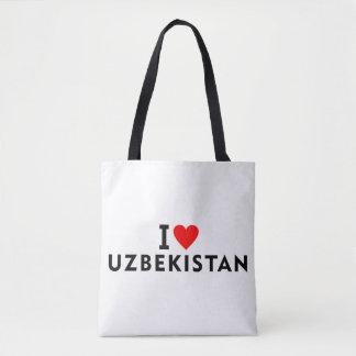 I love Uzbekistan country like heart travel touris Tote Bag