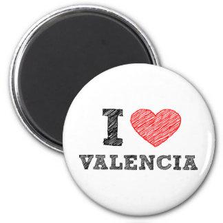 I Love Valencia 2 Inch Round Magnet