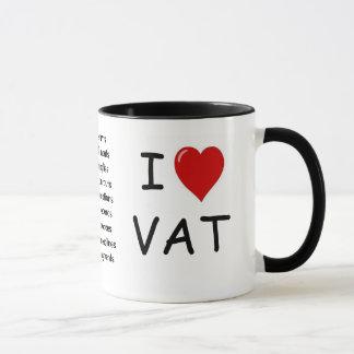 I Love VAT - triple sided VAT mug