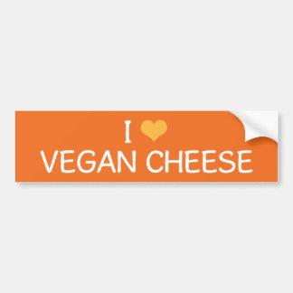 I Love Vegan Cheese Bumper Sticker Car Bumper Sticker