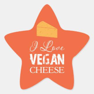 I Love Vegan Cheese Star Sticker