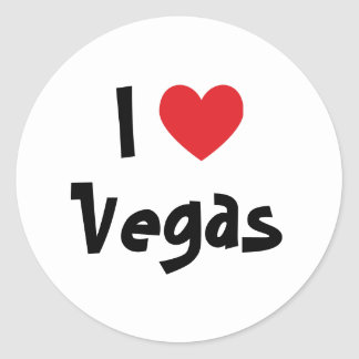 I Love Vegas Classic Round Sticker