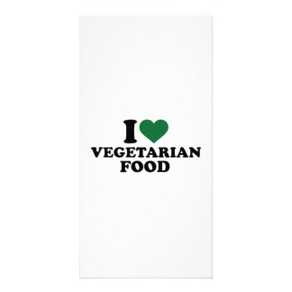 I love vegetarian food customized photo card
