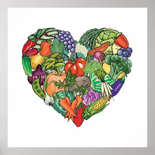 I Love Veggies Poster
