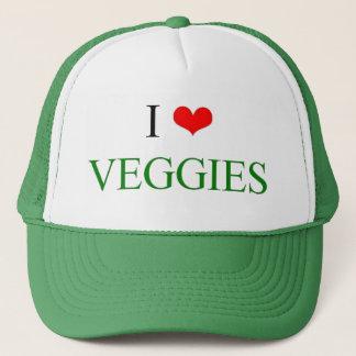I Love Veggies Trucker Hat
