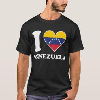 I Love Venezuela Venezuelan Flag Heart T-Shirt
