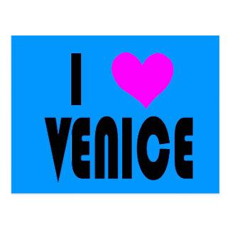 I Love Venice Italy postcard