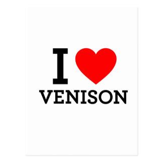 I Love Venison Postcard