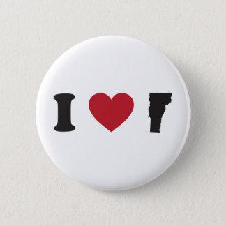 I love Vermont 2 Inch Round Button