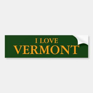 I LOVE VERMONT BUMPERSTICKERS BUMPER STICKER