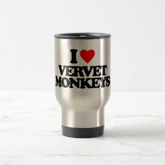 I LOVE VERVET MONKEYS COFFEE MUGS