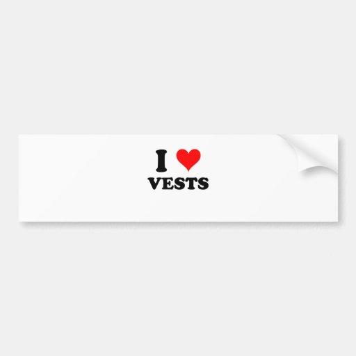 I Love Vests Bumper Stickers