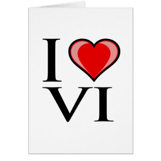 I Love VI - Virgin Islands Card