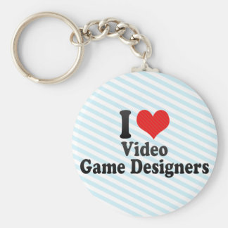 I Love Video Game Designers Keychain