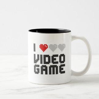 I Love Video Game Two-Tone Mug