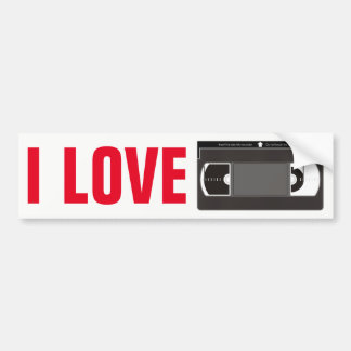 I Love Videotapes Bumper Sticker
