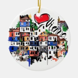 I love Vienna Ceramic Ornament