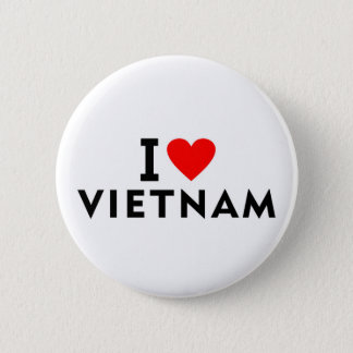 I love Vietnam country like heart travel tourism 2 Inch Round Button