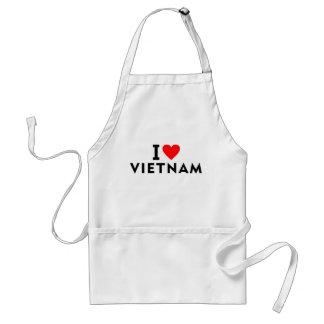 I love Vietnam country like heart travel tourism Standard Apron