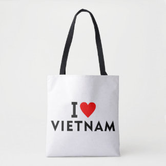 I love Vietnam country like heart travel tourism Tote Bag
