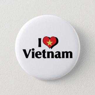 I Love Vietnam Flag 2 Inch Round Button