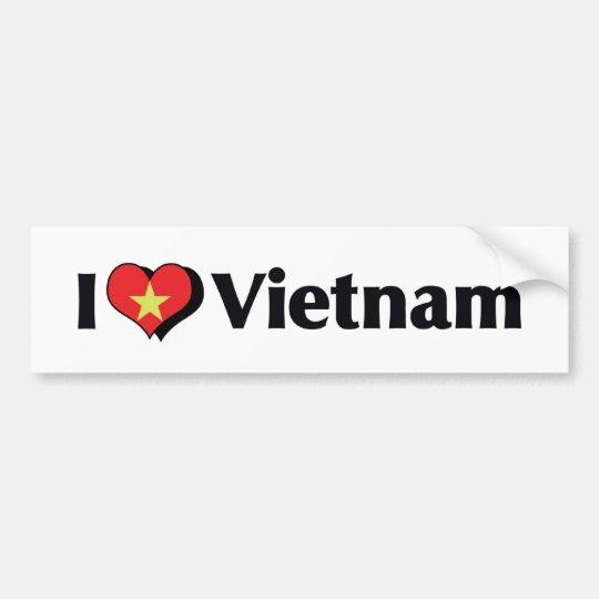 I Love Vietnam Flag Bumper Sticker