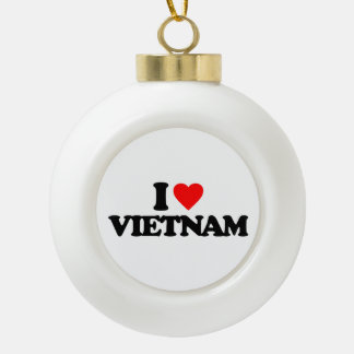 I LOVE VIETNAM CERAMIC BALL ORNAMENT