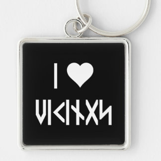 I Love Vikings Keychain