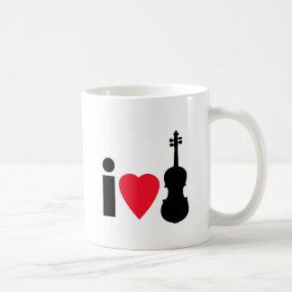 I Love Violin Coffee Mug