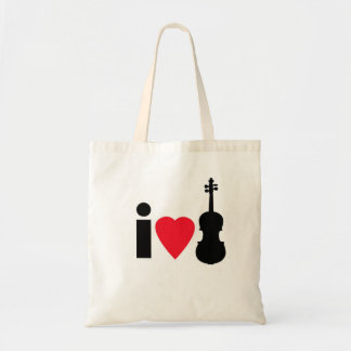 I Love Violin Tote Bag