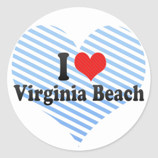 I Love Virginia Beach Classic Round Sticker