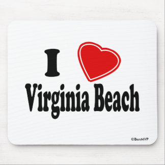 I Love Virginia Beach Mouse Pad