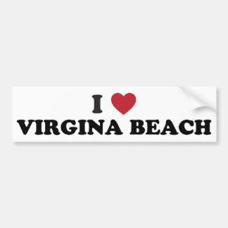 I Love Virginia Beach Virginia Car Bumper Sticker