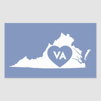 I Love Virginia State Stickers