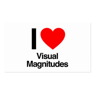 i love visual magnitudes pack of standard business cards
