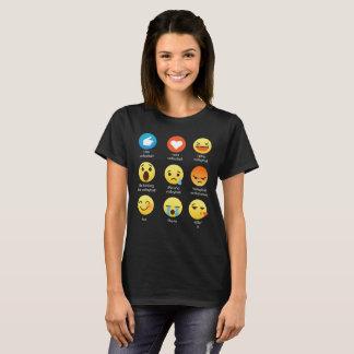 I Love VOLLEYBALL Emoticon (emoji) Social Icon Say T-Shirt